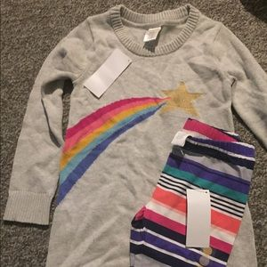 Gymboree sweater dress and leggings NWT